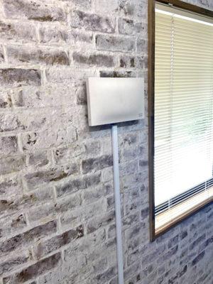 らくらくWi-Fiは壁面にも設置可能です
